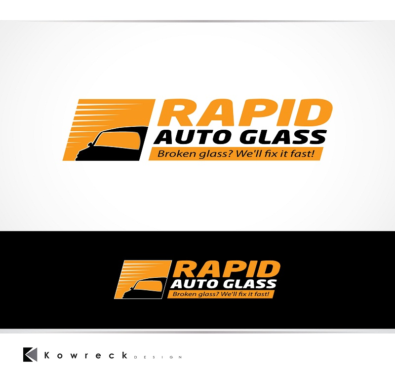 Logo Design by kowreck - Entry No. 39 in the Logo Design Contest Unique Logo Design Wanted for Rapid Auto Glass.