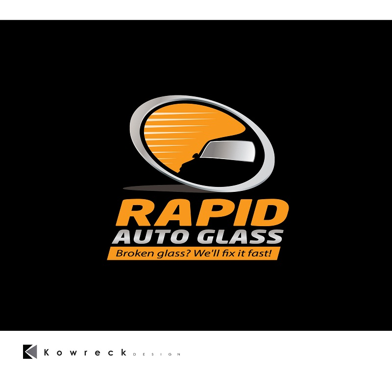 Logo Design by kowreck - Entry No. 40 in the Logo Design Contest Unique Logo Design Wanted for Rapid Auto Glass.