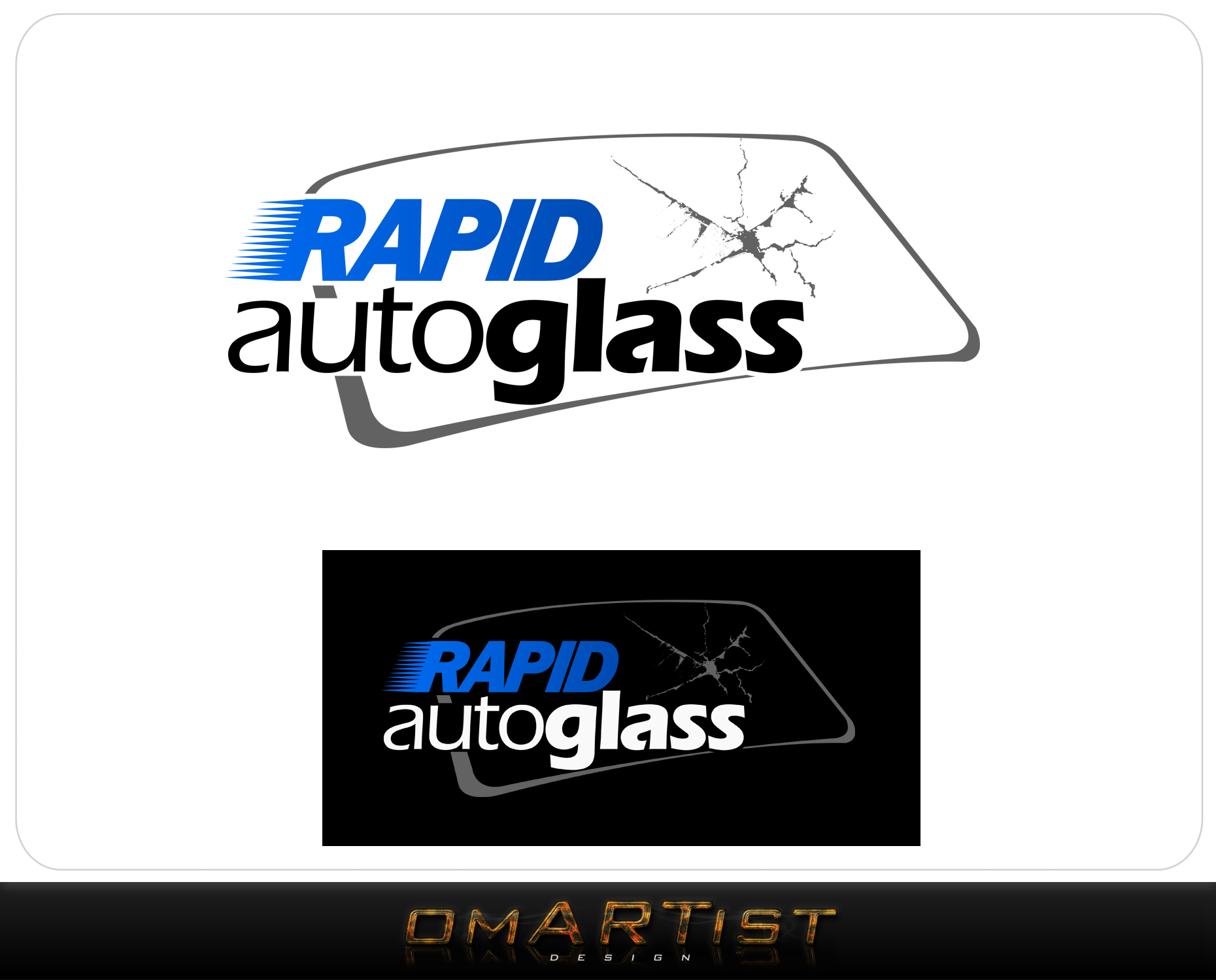 Logo Design by omARTist - Entry No. 41 in the Logo Design Contest Unique Logo Design Wanted for Rapid Auto Glass.