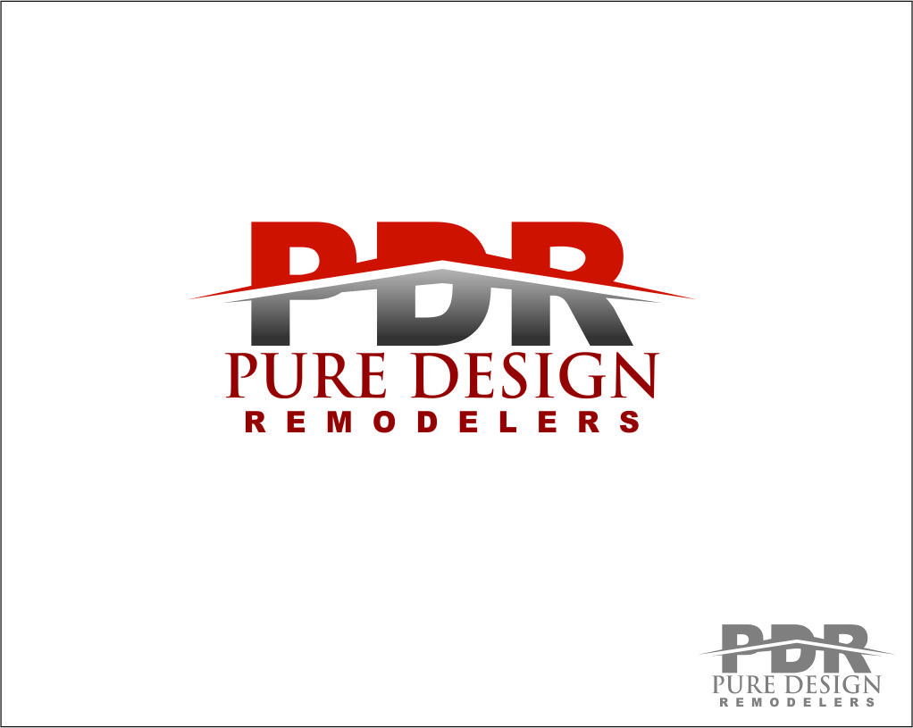 Logo Design by Agus Martoyo - Entry No. 28 in the Logo Design Contest Custom Logo Design for Pure Design Remodelers.