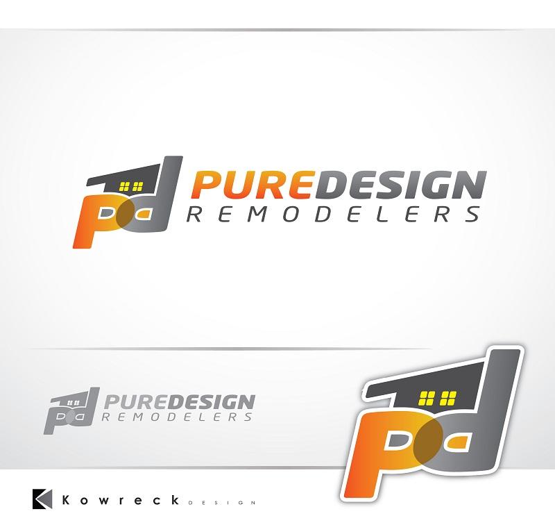 Logo Design by kowreck - Entry No. 29 in the Logo Design Contest Custom Logo Design for Pure Design Remodelers.