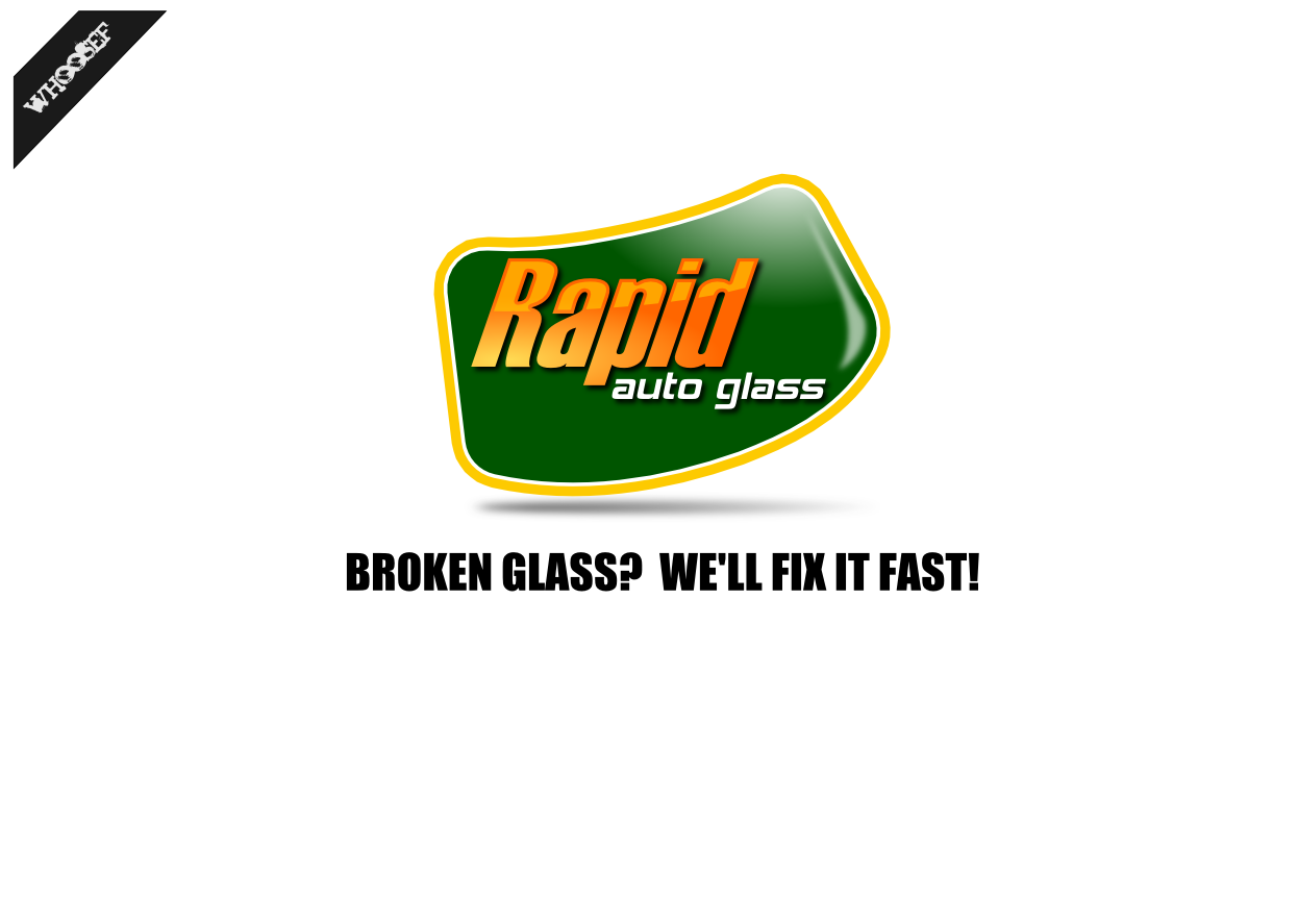 Logo Design by whoosef - Entry No. 45 in the Logo Design Contest Unique Logo Design Wanted for Rapid Auto Glass.