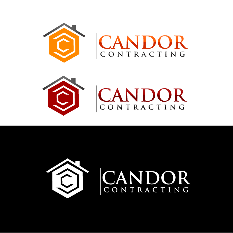 Logo Design by RAJU CHATTERJEE - Entry No. 15 in the Logo Design Contest Unique Logo Design Wanted for Candor Contracting.