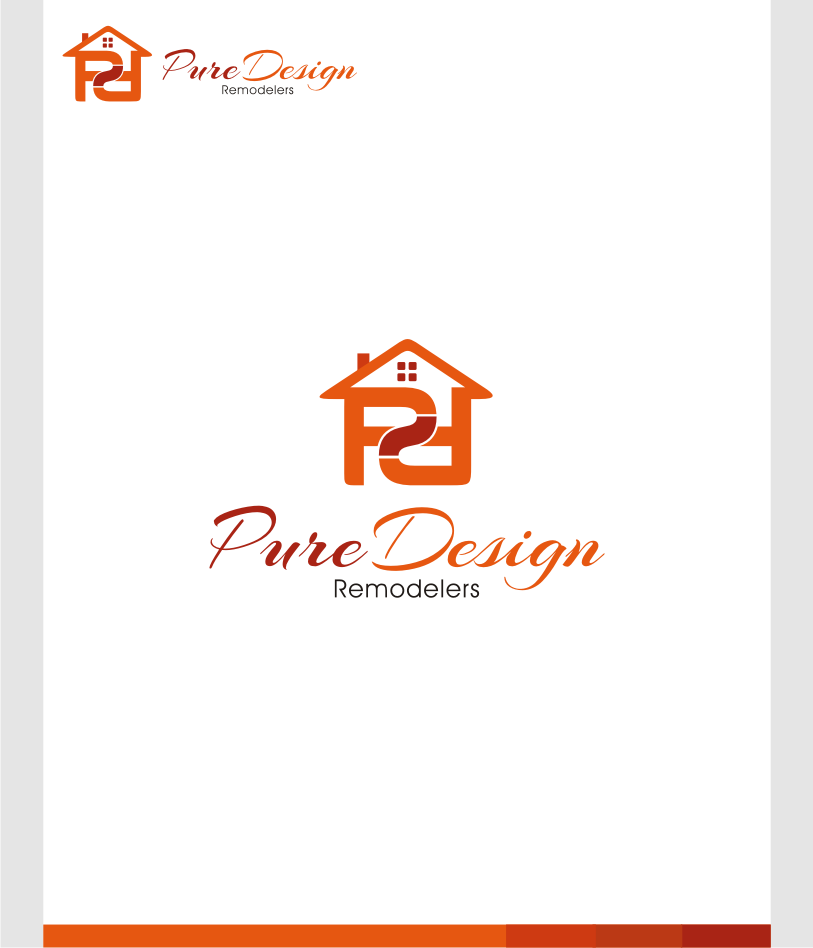 Logo Design by graphicleaf - Entry No. 32 in the Logo Design Contest Custom Logo Design for Pure Design Remodelers.