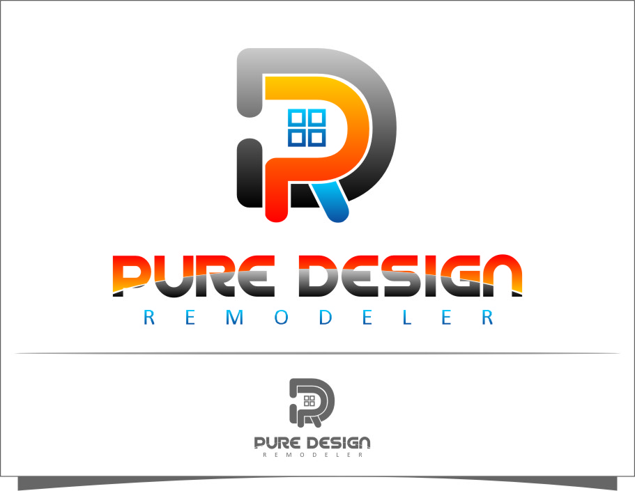 Logo Design by Ngepet_art - Entry No. 34 in the Logo Design Contest Custom Logo Design for Pure Design Remodelers.