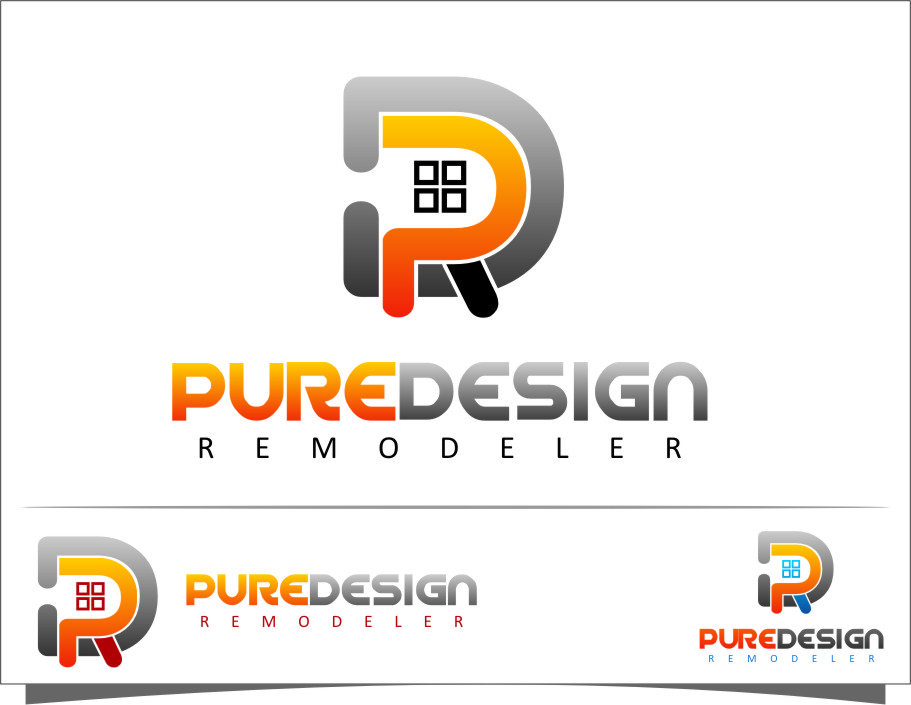 Logo Design by RasYa Muhammad Athaya - Entry No. 35 in the Logo Design Contest Custom Logo Design for Pure Design Remodelers.