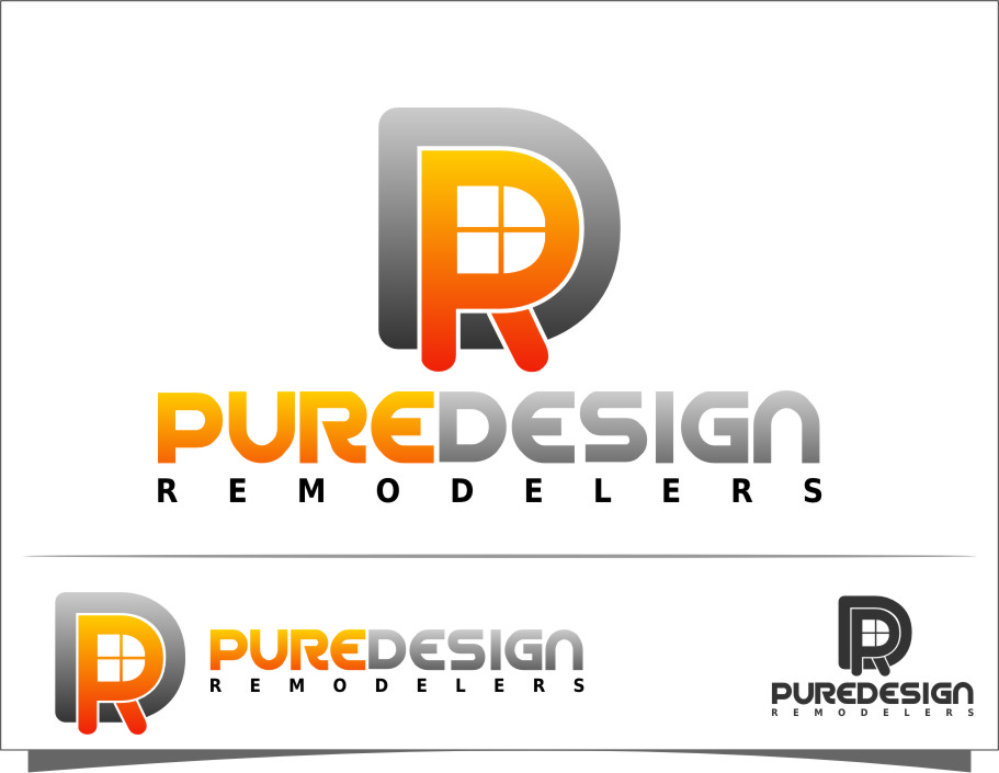 Logo Design by Ngepet_art - Entry No. 36 in the Logo Design Contest Custom Logo Design for Pure Design Remodelers.