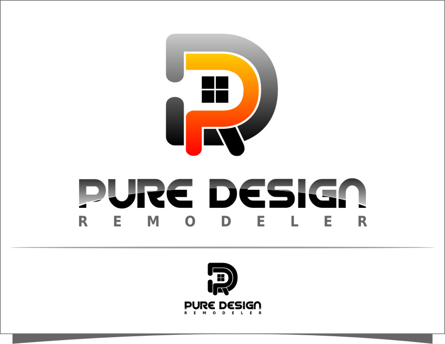 Logo Design by Ngepet_art - Entry No. 39 in the Logo Design Contest Custom Logo Design for Pure Design Remodelers.