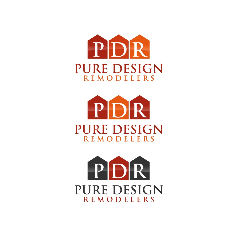 Logo Design by untung - Entry No. 40 in the Logo Design Contest Custom Logo Design for Pure Design Remodelers.