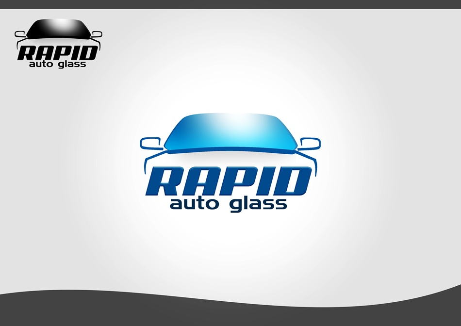 Logo Design by Respati Himawan - Entry No. 46 in the Logo Design Contest Unique Logo Design Wanted for Rapid Auto Glass.