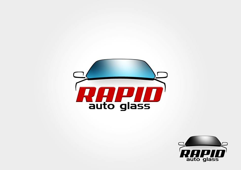 Logo Design by Respati Himawan - Entry No. 47 in the Logo Design Contest Unique Logo Design Wanted for Rapid Auto Glass.