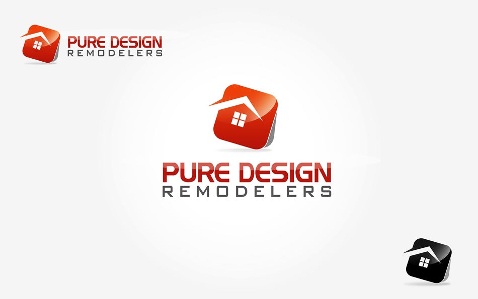 Logo Design by Respati Himawan - Entry No. 42 in the Logo Design Contest Custom Logo Design for Pure Design Remodelers.