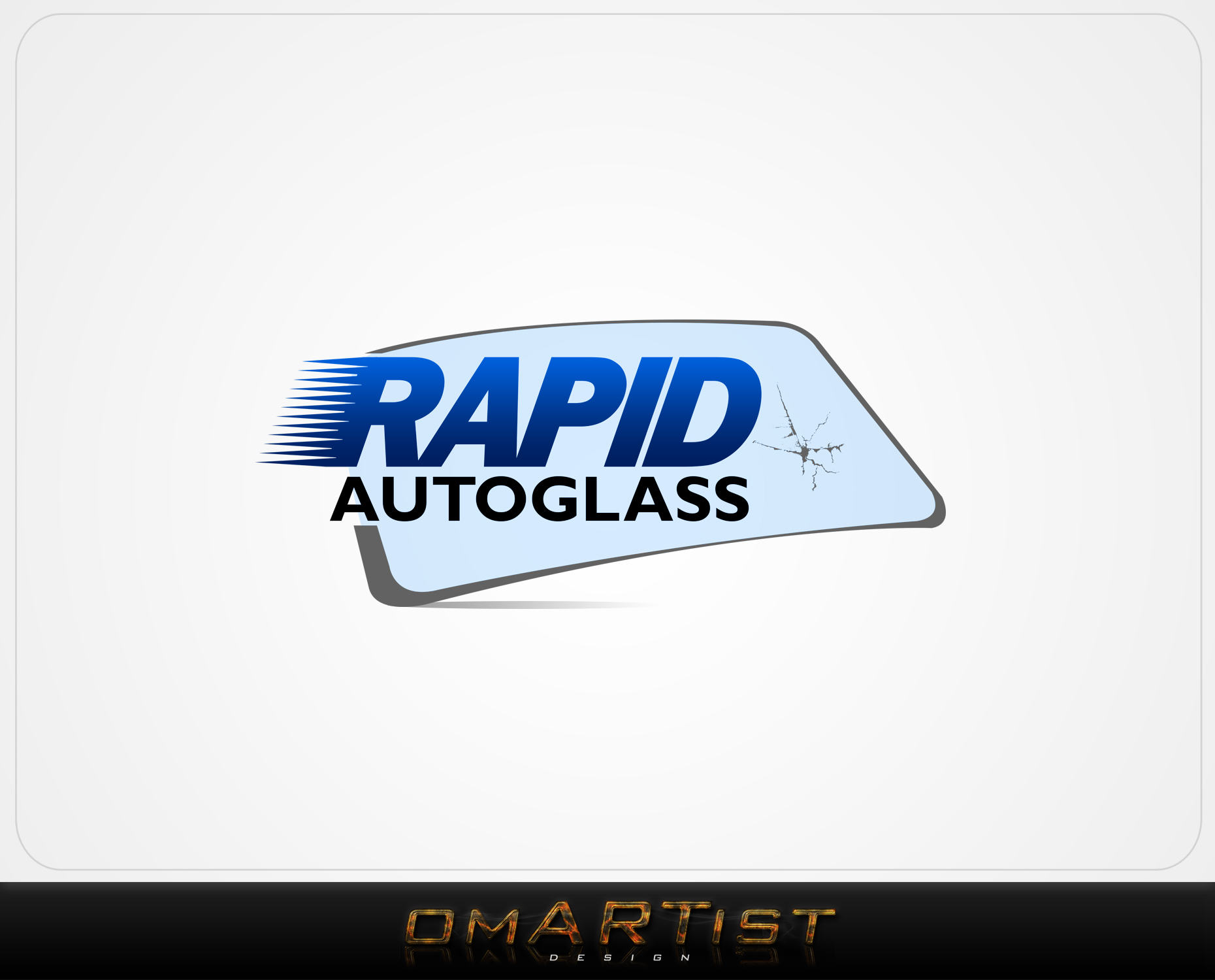Logo Design by omARTist - Entry No. 52 in the Logo Design Contest Unique Logo Design Wanted for Rapid Auto Glass.