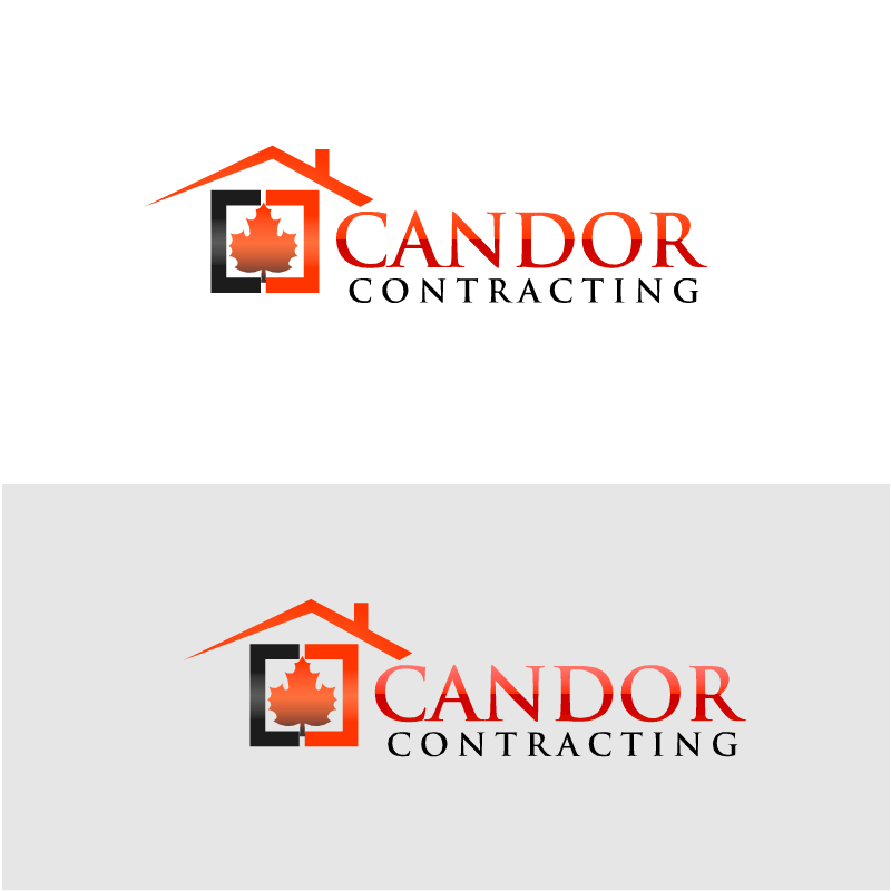 Logo Design by RAJU CHATTERJEE - Entry No. 27 in the Logo Design Contest Unique Logo Design Wanted for Candor Contracting.