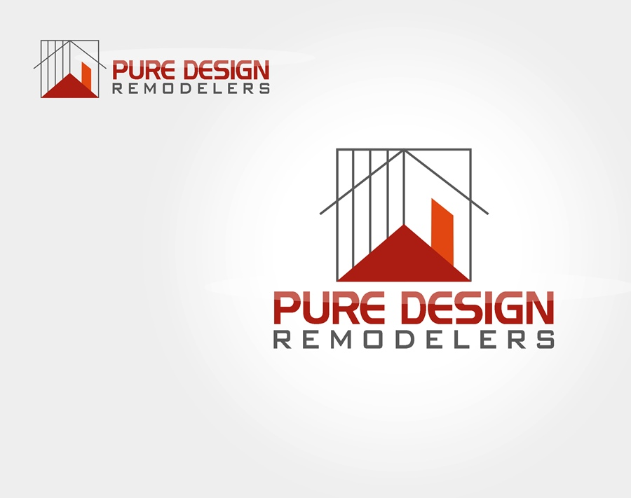 Logo Design by Respati Himawan - Entry No. 43 in the Logo Design Contest Custom Logo Design for Pure Design Remodelers.