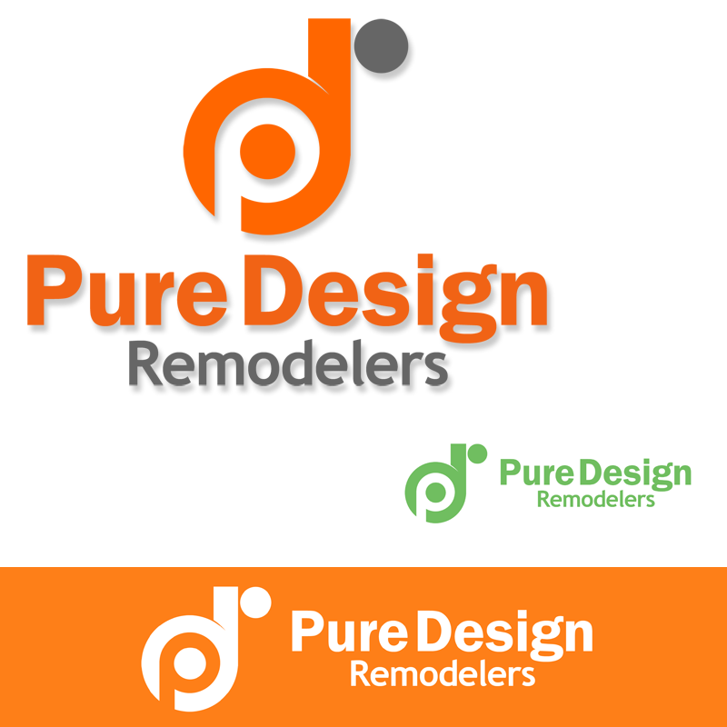 Logo Design by Robert Turla - Entry No. 46 in the Logo Design Contest Custom Logo Design for Pure Design Remodelers.