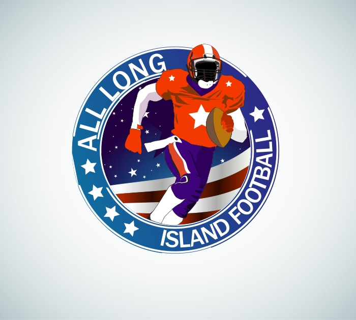 Logo Design by Private User - Entry No. 7 in the Logo Design Contest Unique Logo Design Wanted for ALL LONG ISLAND FOOTBALL.