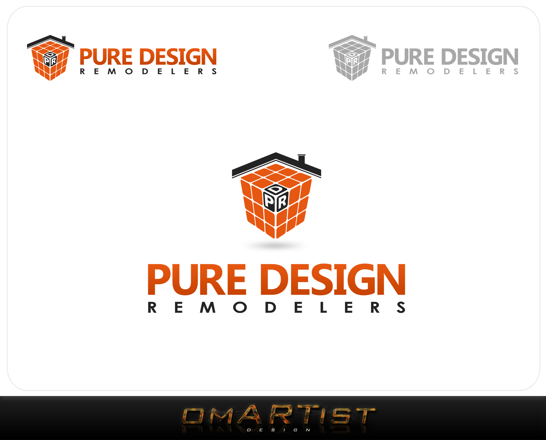 Logo Design by omARTist - Entry No. 49 in the Logo Design Contest Custom Logo Design for Pure Design Remodelers.