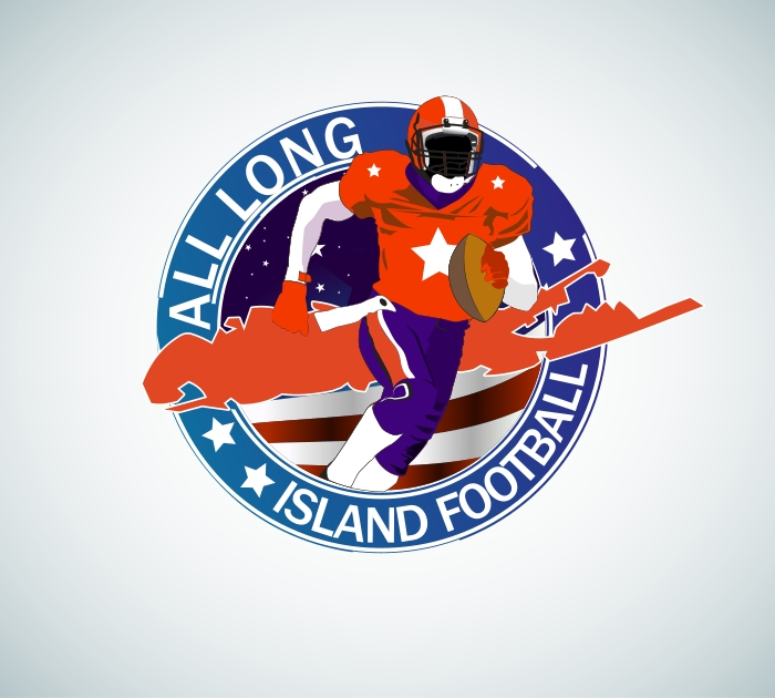 Logo Design by Private User - Entry No. 9 in the Logo Design Contest Unique Logo Design Wanted for ALL LONG ISLAND FOOTBALL.