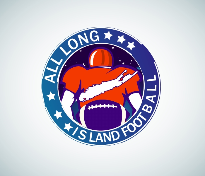 Logo Design by Private User - Entry No. 10 in the Logo Design Contest Unique Logo Design Wanted for ALL LONG ISLAND FOOTBALL.