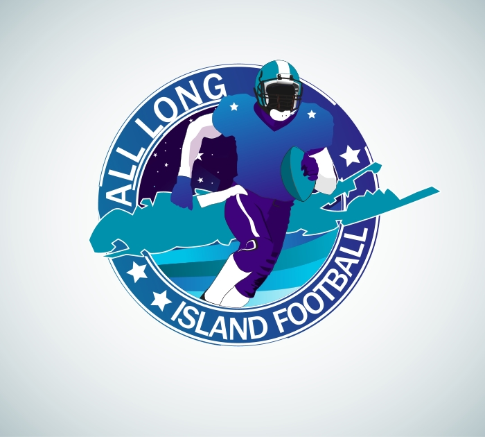 Logo Design by Private User - Entry No. 11 in the Logo Design Contest Unique Logo Design Wanted for ALL LONG ISLAND FOOTBALL.
