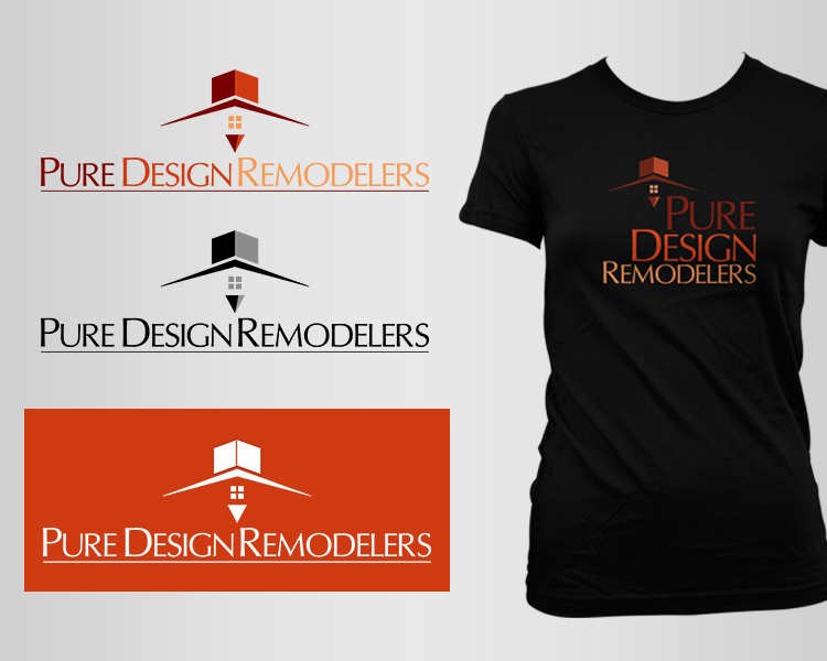 Logo Design by Dije Eki - Entry No. 50 in the Logo Design Contest Custom Logo Design for Pure Design Remodelers.