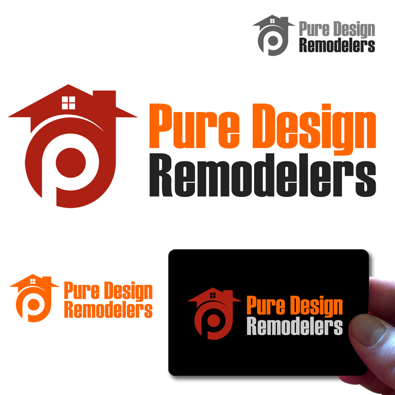Logo Design by Private User - Entry No. 54 in the Logo Design Contest Custom Logo Design for Pure Design Remodelers.