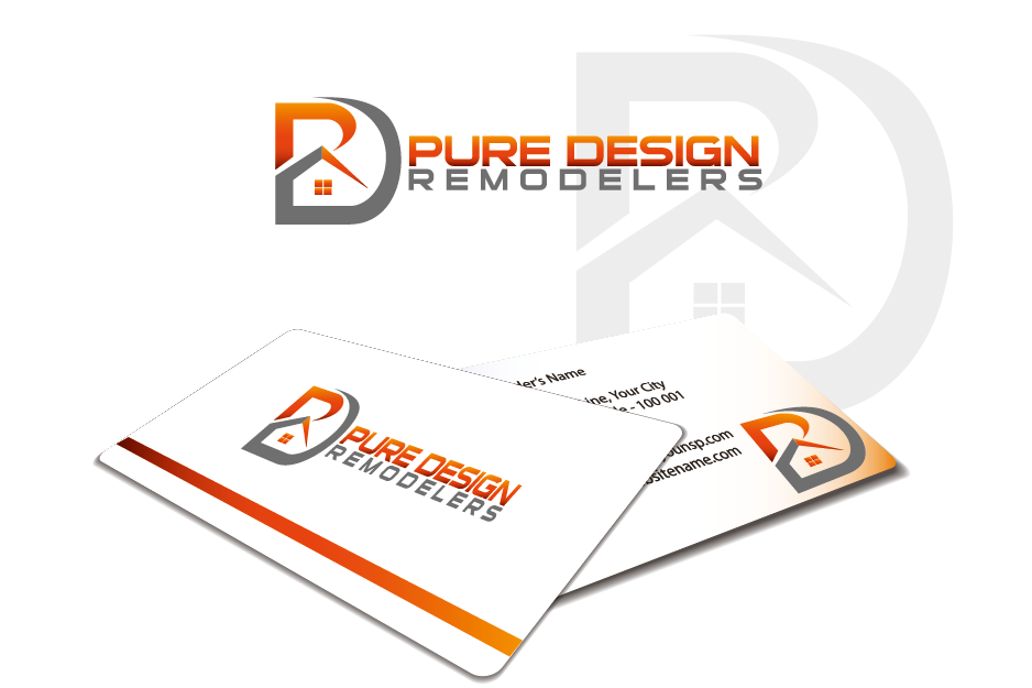 Logo Design by Private User - Entry No. 61 in the Logo Design Contest Custom Logo Design for Pure Design Remodelers.