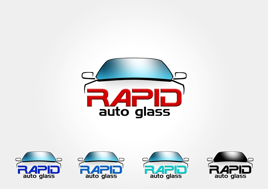 Logo Design by Respati Himawan - Entry No. 62 in the Logo Design Contest Unique Logo Design Wanted for Rapid Auto Glass.