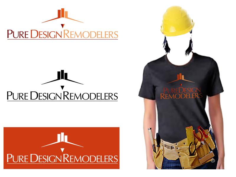 Logo Design by Dije Eki - Entry No. 72 in the Logo Design Contest Custom Logo Design for Pure Design Remodelers.