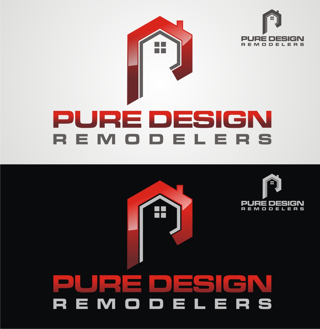 Logo Design by Reivan Ferdinan - Entry No. 73 in the Logo Design Contest Custom Logo Design for Pure Design Remodelers.