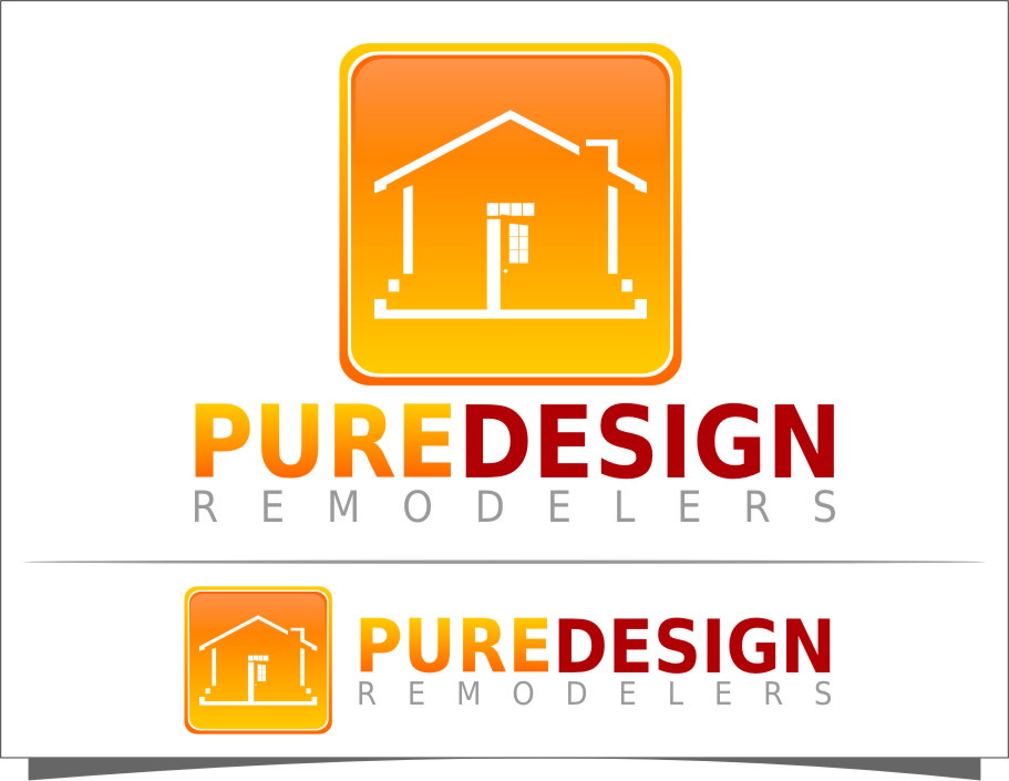 Logo Design by Ngepet_art - Entry No. 77 in the Logo Design Contest Custom Logo Design for Pure Design Remodelers.