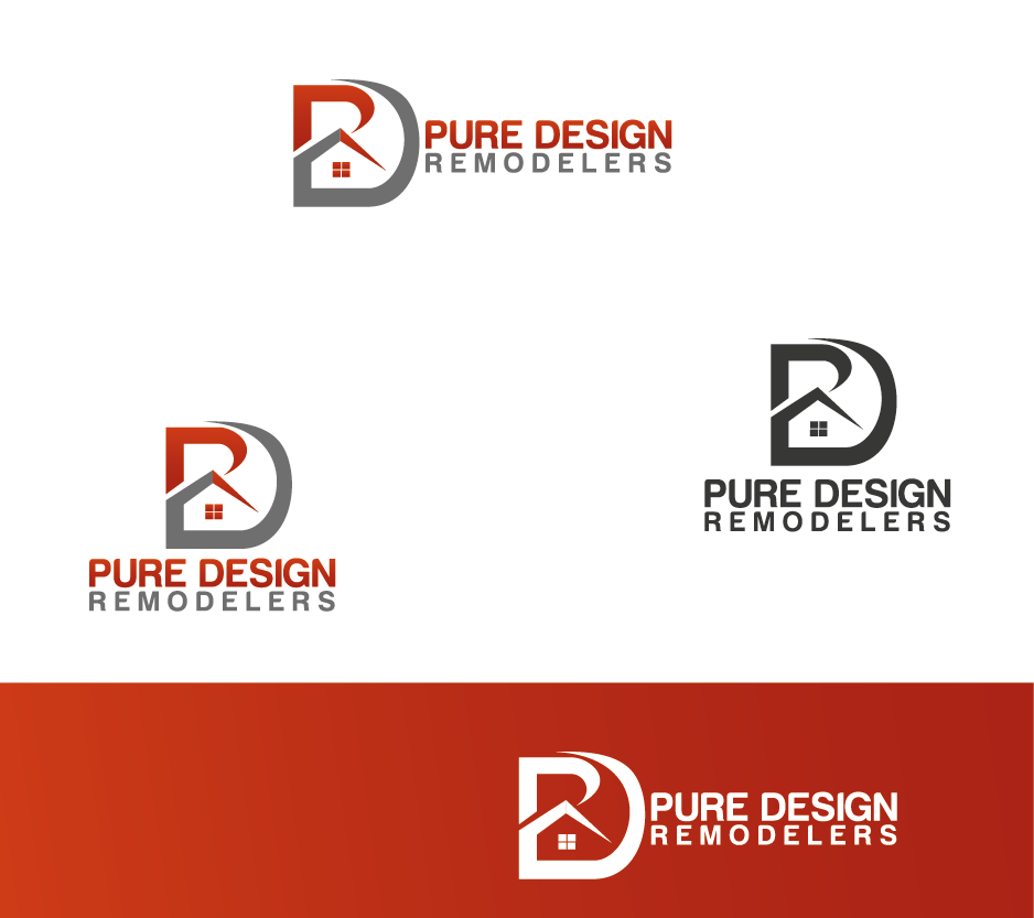 Logo Design by Private User - Entry No. 79 in the Logo Design Contest Custom Logo Design for Pure Design Remodelers.