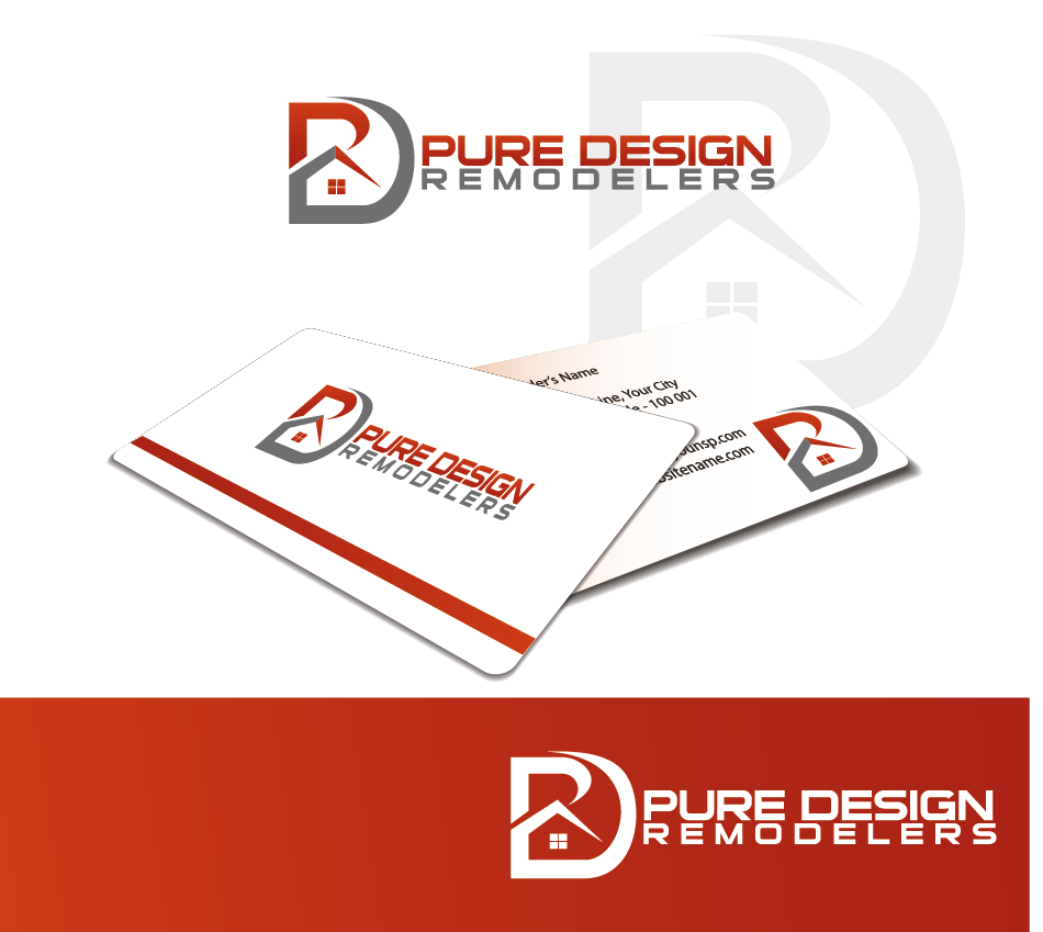 Logo Design by Private User - Entry No. 80 in the Logo Design Contest Custom Logo Design for Pure Design Remodelers.