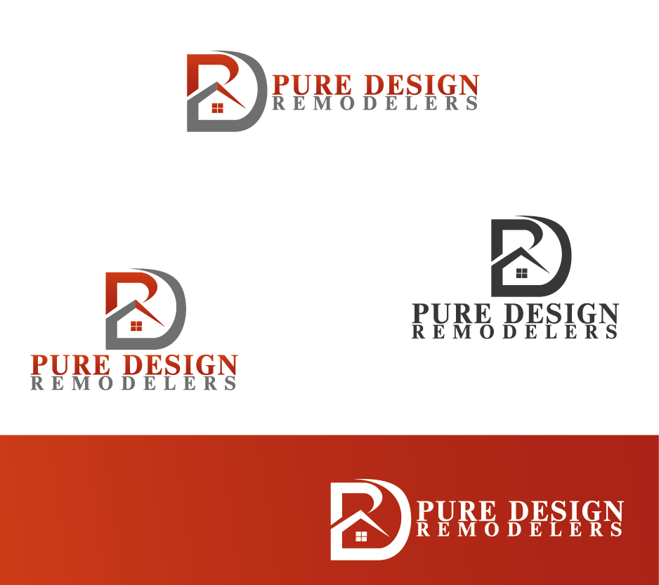 Logo Design by Private User - Entry No. 81 in the Logo Design Contest Custom Logo Design for Pure Design Remodelers.