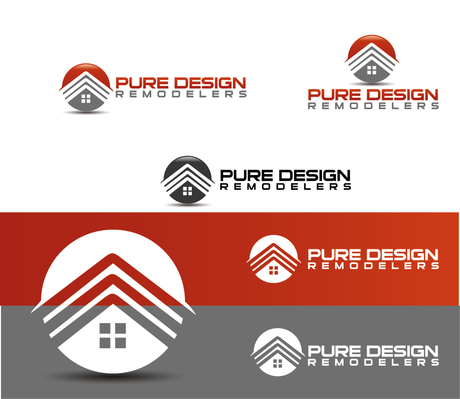 Logo Design by Private User - Entry No. 82 in the Logo Design Contest Custom Logo Design for Pure Design Remodelers.