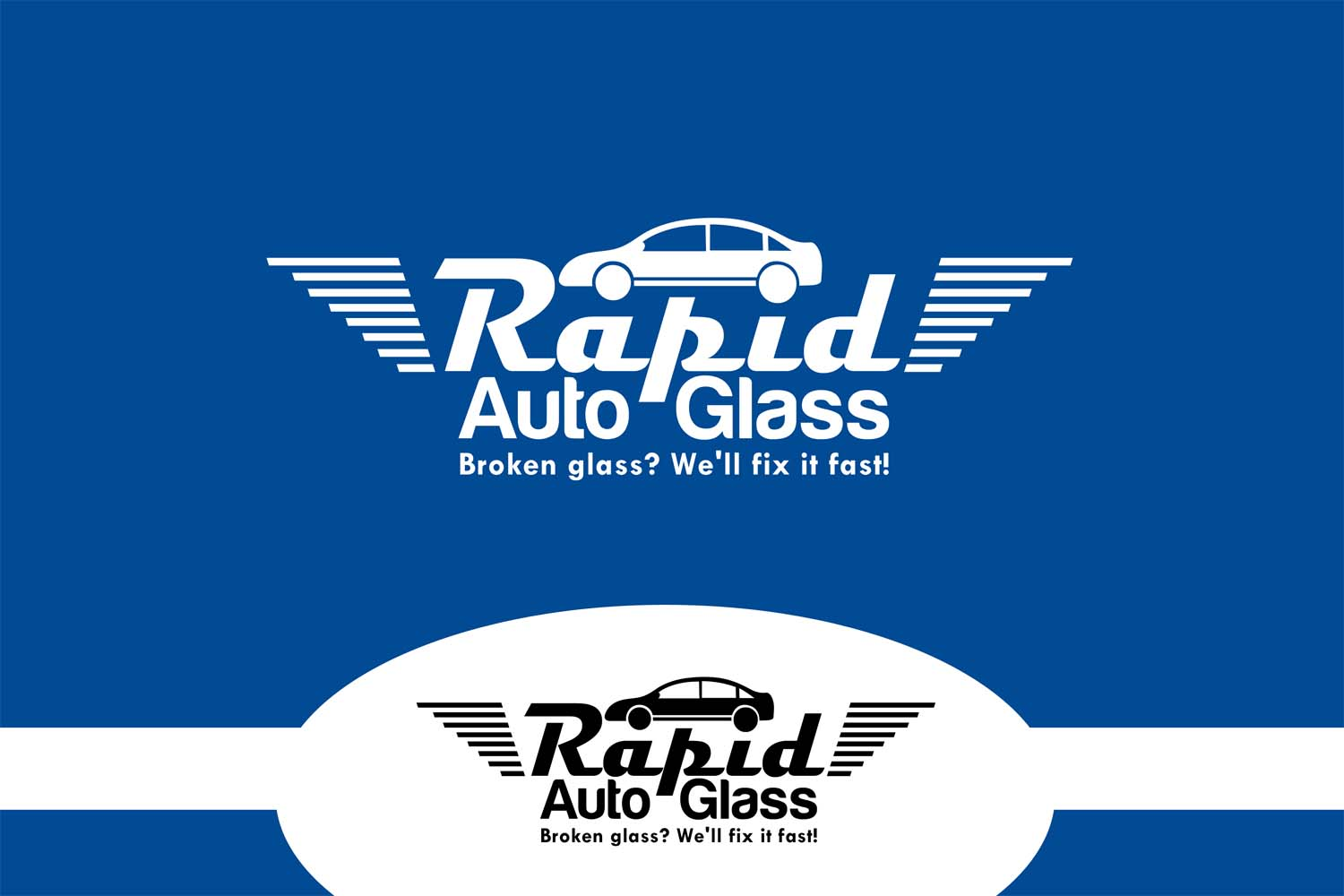 Logo Design by Private User - Entry No. 71 in the Logo Design Contest Unique Logo Design Wanted for Rapid Auto Glass.