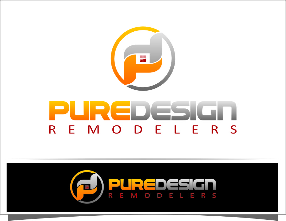 Logo Design by Ngepet_art - Entry No. 85 in the Logo Design Contest Custom Logo Design for Pure Design Remodelers.