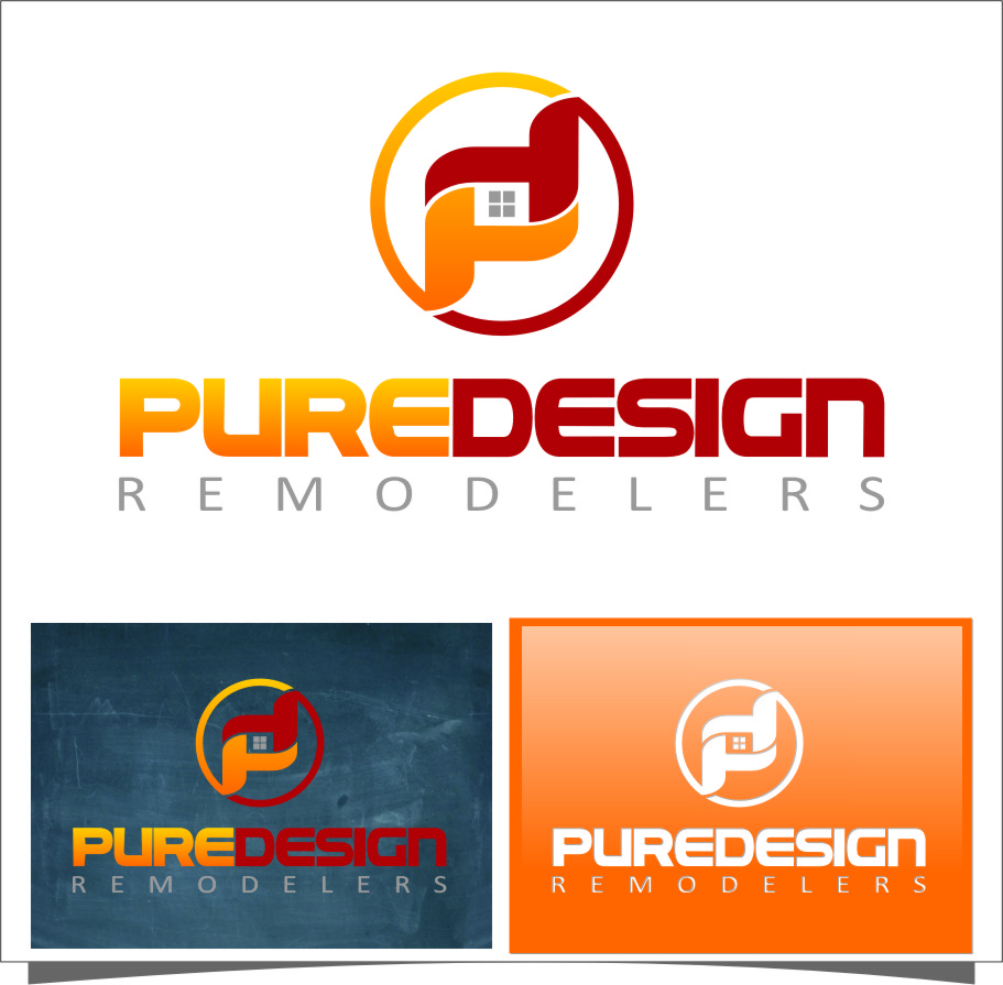 Logo Design by RasYa Muhammad Athaya - Entry No. 86 in the Logo Design Contest Custom Logo Design for Pure Design Remodelers.