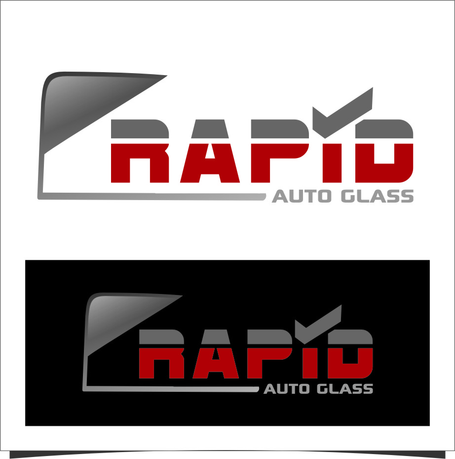 Logo Design by Ngepet_art - Entry No. 75 in the Logo Design Contest Unique Logo Design Wanted for Rapid Auto Glass.