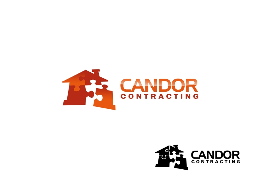 Logo Design by Respati Himawan - Entry No. 47 in the Logo Design Contest Unique Logo Design Wanted for Candor Contracting.
