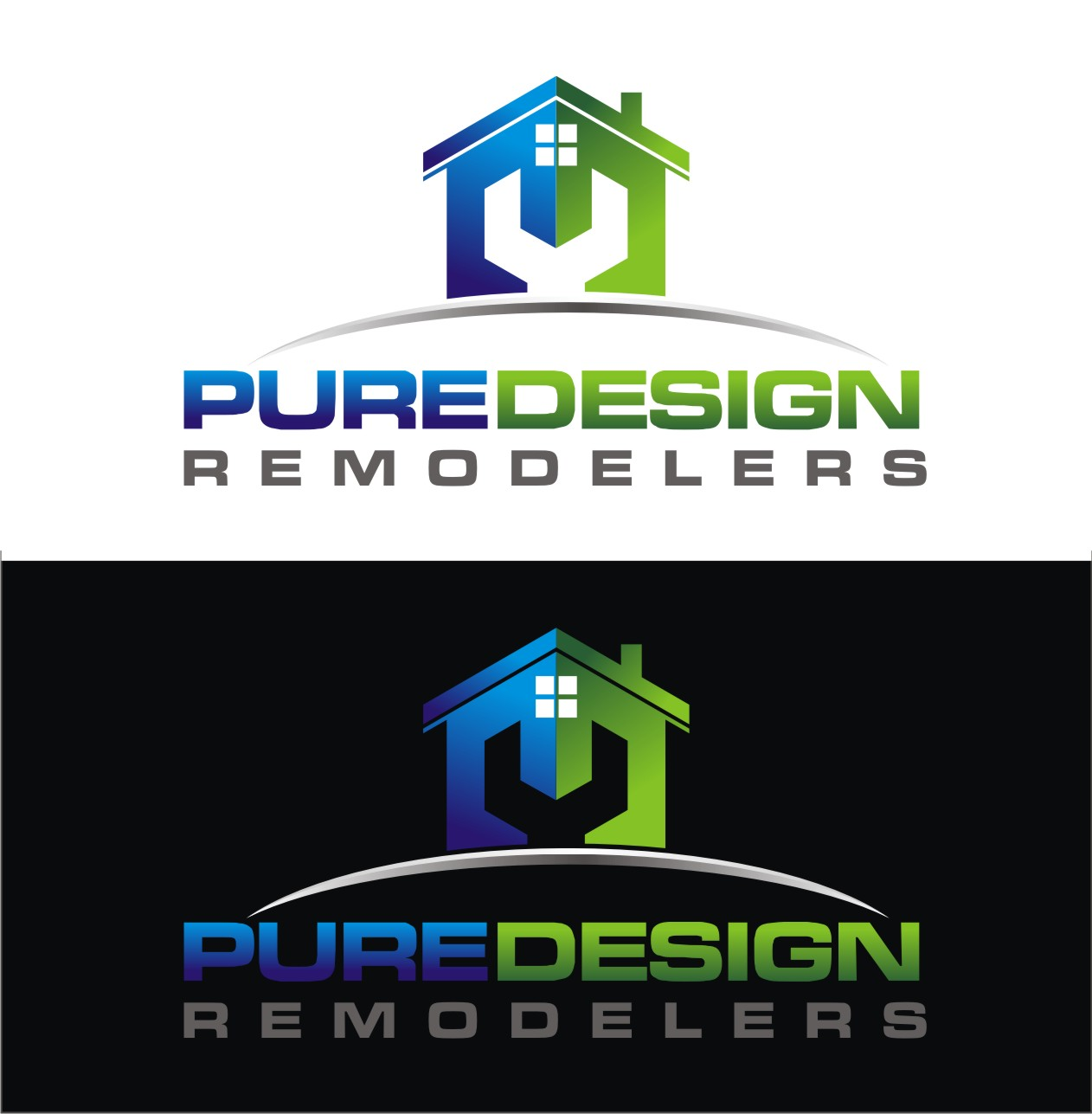 Logo Design by Reivan Ferdinan - Entry No. 91 in the Logo Design Contest Custom Logo Design for Pure Design Remodelers.