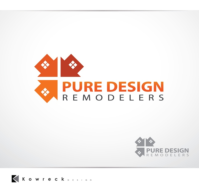 Logo Design by kowreck - Entry No. 97 in the Logo Design Contest Custom Logo Design for Pure Design Remodelers.