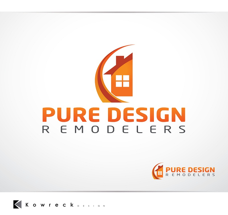 Logo Design by kowreck - Entry No. 98 in the Logo Design Contest Custom Logo Design for Pure Design Remodelers.