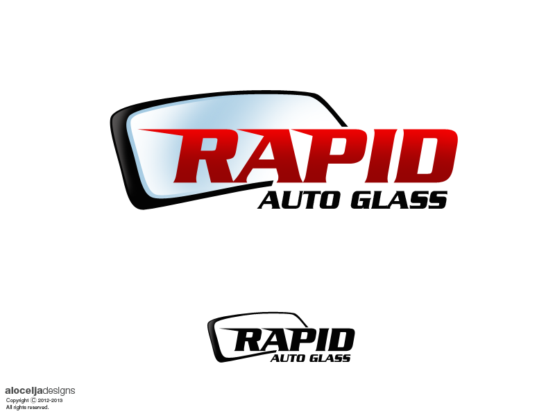 Logo Design by alocelja - Entry No. 78 in the Logo Design Contest Unique Logo Design Wanted for Rapid Auto Glass.