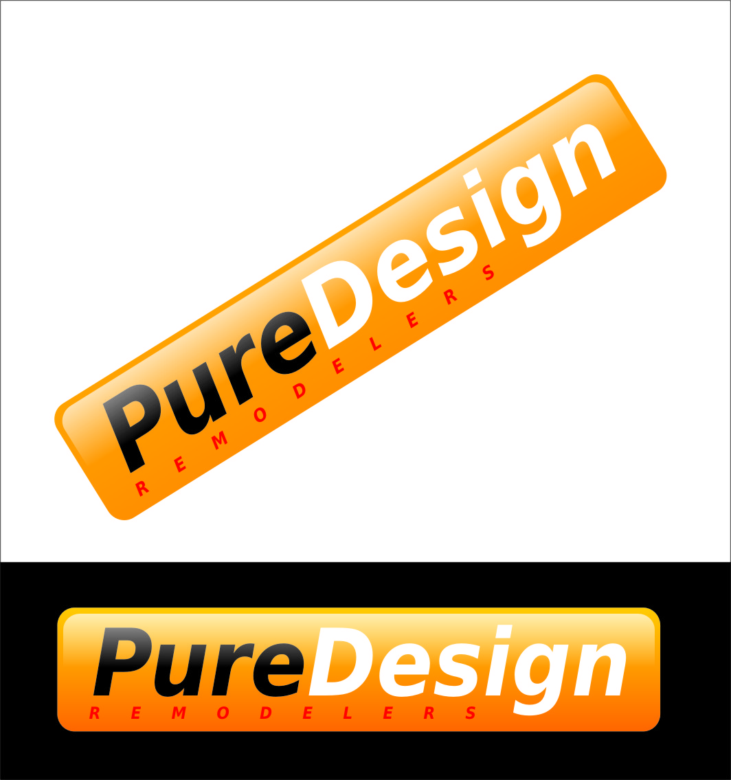 Logo Design by RasYa Muhammad Athaya - Entry No. 101 in the Logo Design Contest Custom Logo Design for Pure Design Remodelers.