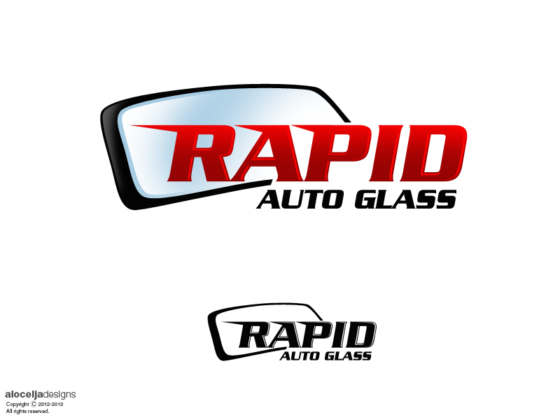 Logo Design by alocelja - Entry No. 79 in the Logo Design Contest Unique Logo Design Wanted for Rapid Auto Glass.