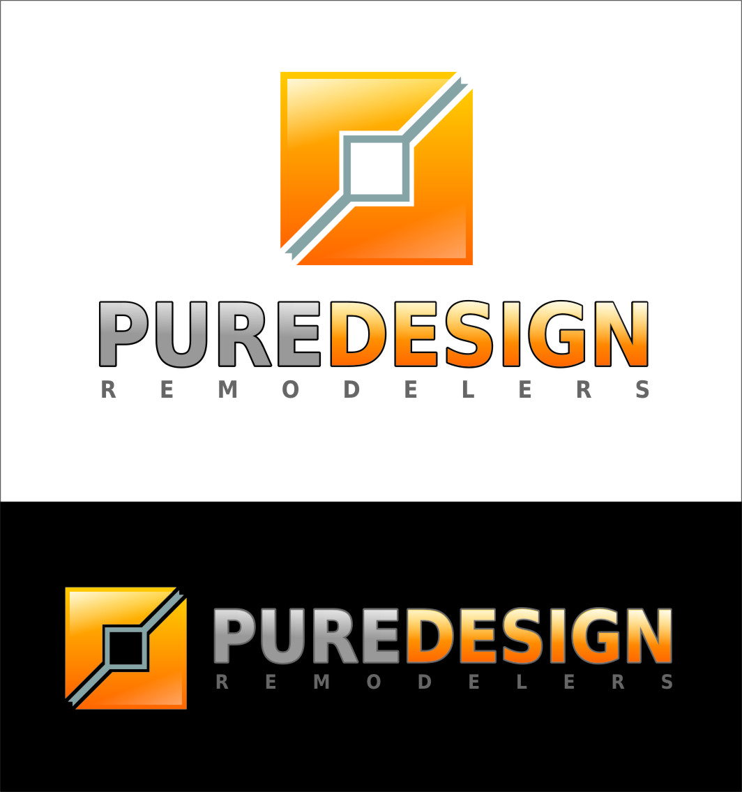 Logo Design by RasYa Muhammad Athaya - Entry No. 102 in the Logo Design Contest Custom Logo Design for Pure Design Remodelers.