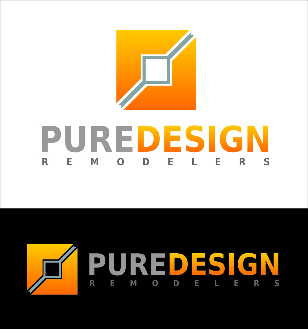Logo Design by Ngepet_art - Entry No. 103 in the Logo Design Contest Custom Logo Design for Pure Design Remodelers.