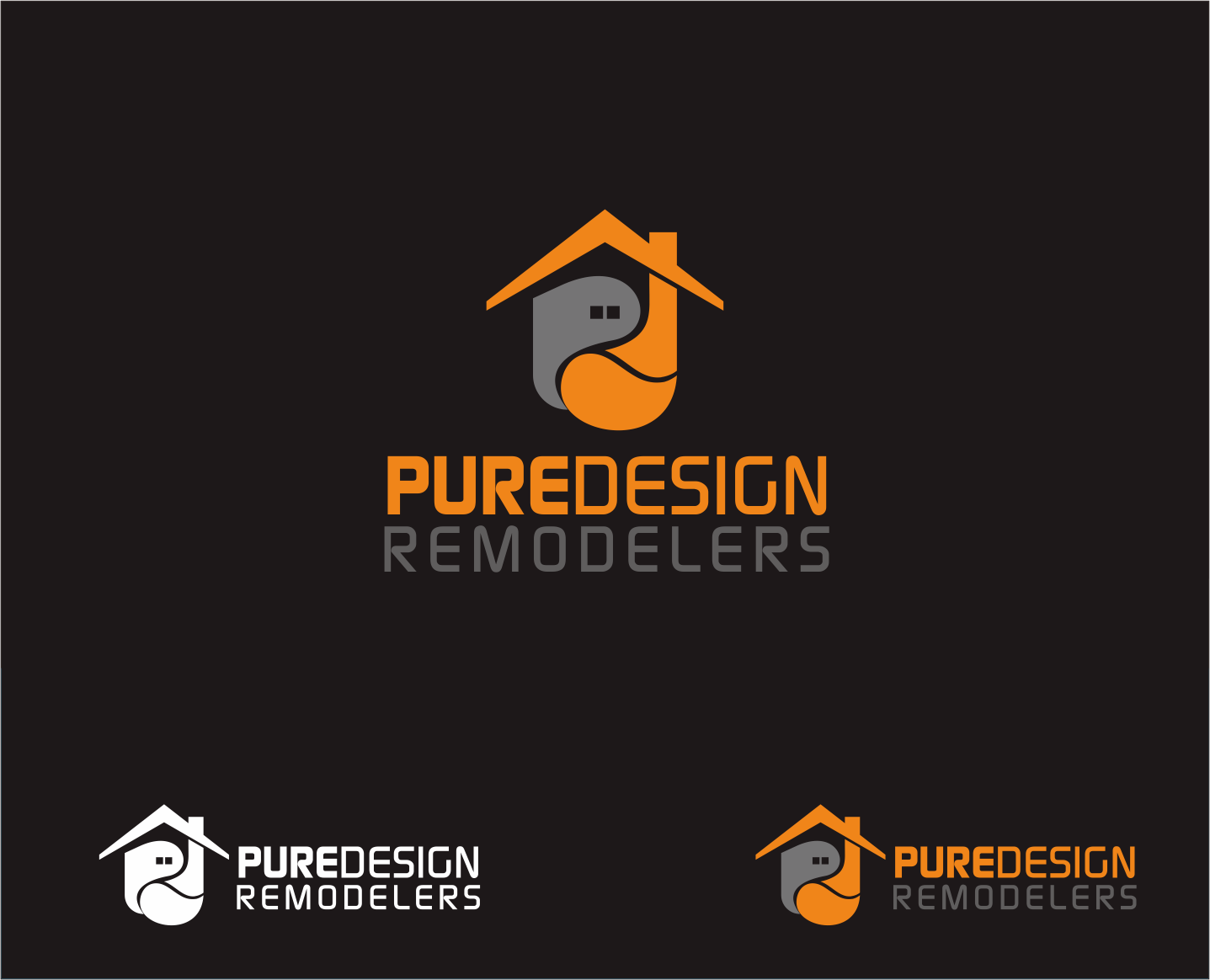 Logo Design by Armada Jamaluddin - Entry No. 106 in the Logo Design Contest Custom Logo Design for Pure Design Remodelers.